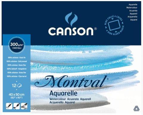 CANSON MONTVAL WATERCOLOUR BLOCK 300G CP 40 X 50CM