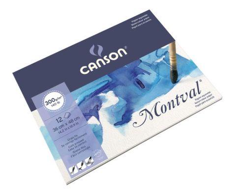 CANSON MONTVAL WATERCOLOUR PAD 300G CP 36X48CM
