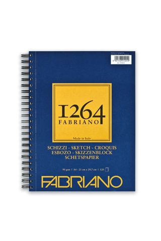 FABRIANO 1264 SKETCH 90G A4 SIDE SPIRAL PAD (120)