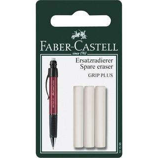 FABER-CASTELL GRIP PLUS ERASERS PKT 3