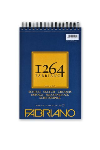FABRIANO 1264 SKETCH 90G A4 TOP SPIRAL PAD (120)