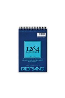 FABRIANO 1264 MIX MEDIA 300G A5 TOP SPIRAL PAD(15)