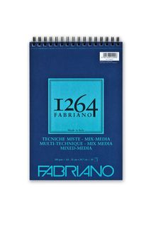 FABRIANO 1264 MIX MEDIA 300G A4 TOP SPIRAL PAD(30)