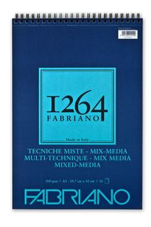 FABRIANO 1264 MIX MEDIA 300G A3 TOP SPIRAL PAD(30)