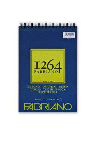 FABRIANO 1264 DRAWING 180G A4 TOP SPIRAL PAD (50)