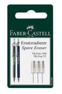 FABER-CASTELL TK-FINE SPARE ERASERS PKT3