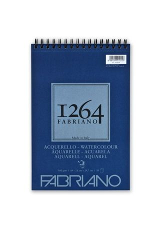 FABRIANO 1264 W/COLOUR 300G A4 TOP SPIRAL PAD (30)