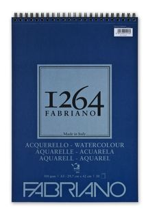 FABRIANO 1264 W/COLOUR 300G A3 TOP SPIRAL PAD (30)