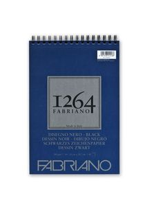 FABRIANO 1264 BLACK 200G A4 TOP SPIRAL PAD (40)