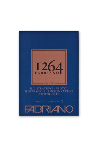 FABRIANO 1264 BRISTOL 200G A4 GLUED PAD (50)