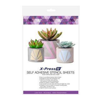 X-PRESS IT SELF ADHESIVE STENCIL SHEETS A4 (PKT 4)