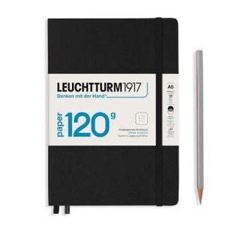 LEUCHTTURM1917 120G NOTEBOOK A5 DOTTED BLACK