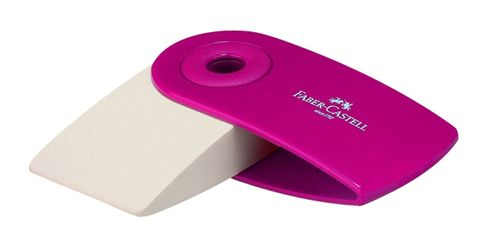 FABER-CASTELL ERASER WITH PLASTIC SLEEVE