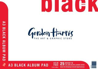 BLACK ALBUM PAD 25 SHEET 140G A3