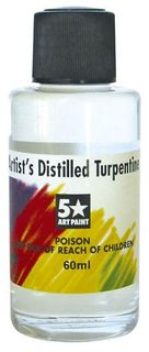 FIVE STAR ARTISTS DISTILLED TURPS 60ML