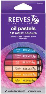 REEVES 4880585 OIL PASTELS SET 12 H/S