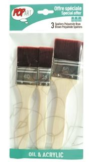 PEBEO 3 BRUSH SET BROWN POLYAMIDE SPALTR