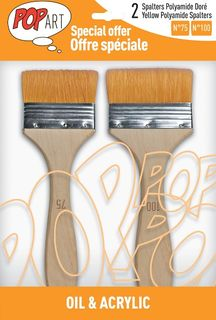 PEBEO 2 BRUSH SET YELLOW POLYAMIDE SPALTER