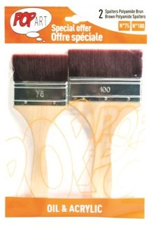 PEBEO 2 BRUSH SET BROWN POLYAMIDE SPALTR