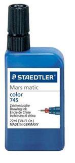 STAEDTLER MARS MATIC 745 DRAWING INK 22ML BLUE