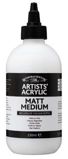 W&N ARTIST ACRYLIC MATT MEDIUM 250ML