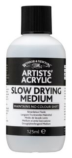 W&N ARTIST ACRYLIC SLOW DRY MEDIUM 125ML