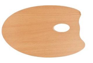 MABEF OVAL WOODEN PALETTE 20X30CM