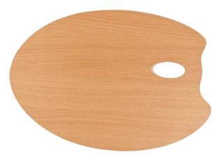 MABEF OVAL WOODEN PALETTE 30X40CM
