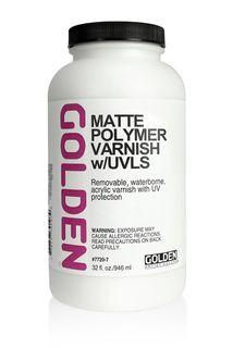 GOLDEN VARNISH POLYMER MATTE 946ML