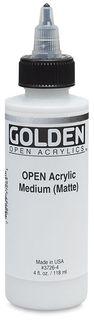 GOLDEN OPEN ACRYLIC MEDIUM (MATTE) 119ML