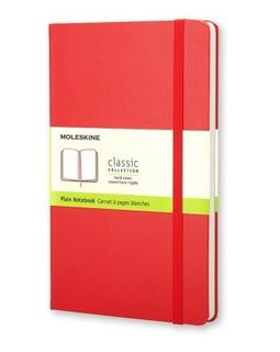 MOLESKINE PLAIN NOTEBOOK LARGE RED