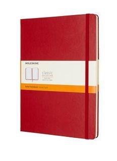 MOLESKINE RULED NOTEBOOK XL RED