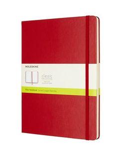MOLESKINE PLAIN NOTEBOOK XL RED