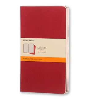 MOLESKINE CAHIER JOURNAL 3 RULED RED LARGE