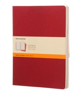 MOLESKINE CAHIER JOURNAL 3 RULED RED XL