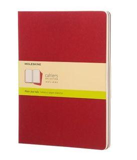 MOLESKINE CAHIER JOURNAL 3 PLAIN RED XL