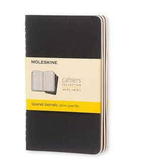 MOLESKINE CAHIER JOURNAL 3 GRID BLACK POCKET