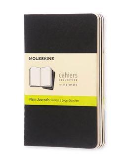 MOLESKINE CAHIER JOURNAL 3 PLAIN BLACK POCKET