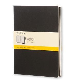 MOLESKINE CAHIER JOURNAL 3 GRID BLACK XL