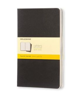 MOLESKINE CAHIER JOURNAL 3 GRID BLACK LARGE