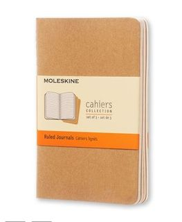 MOLESKINE CAHIER JOURNAL 3 RULED KRAFT POCKET