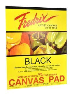 """FREDRIX BLACK CANVAS PAD 35021 16"""" X 20"""""""