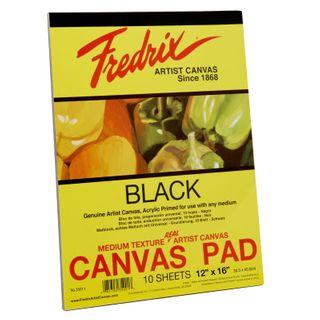 """FREDRIX BLACK CANVAS PAD 35011 12"""" X 16"""""""