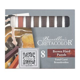 CRETACOLOR PASTEL STICK BROWN CHALKS SET 8