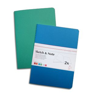 HAHN SKETCH & NOTE 2 X A4 BOOKLETS BLUE