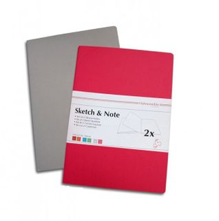 HAHN SKETCH & NOTE 2 X A5 BOOKLETS GRY/P
