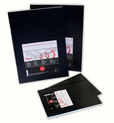 HAHN SKETCH BOOKLET 140G BLACK COVER A4