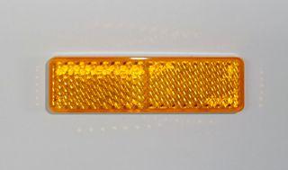 REFL-RECT 20mm x 70mm STICK ON AMBER