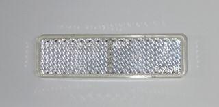 REFL-RECT 20mm x 70mm STICK ON CLEAR