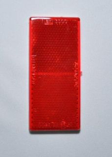 REFL-RECT 100mm x 45mm STICK ON RED